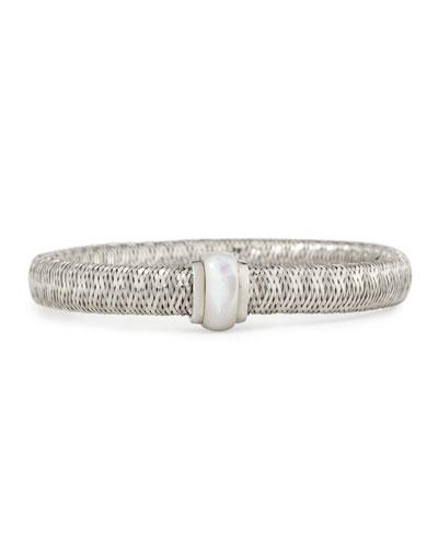 Primavera 18K White Gold Mother-of-Pearl Station Bracelet