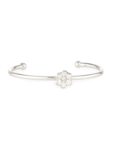 Bayco 18K White Gold & Diamond Floral Bracelet