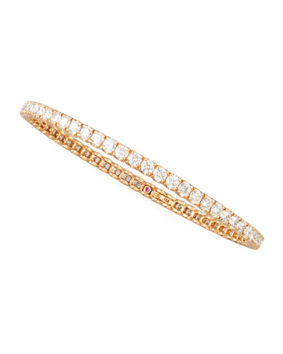 64mm Rose Gold Diamond Eternity Bangle, 8.06ct