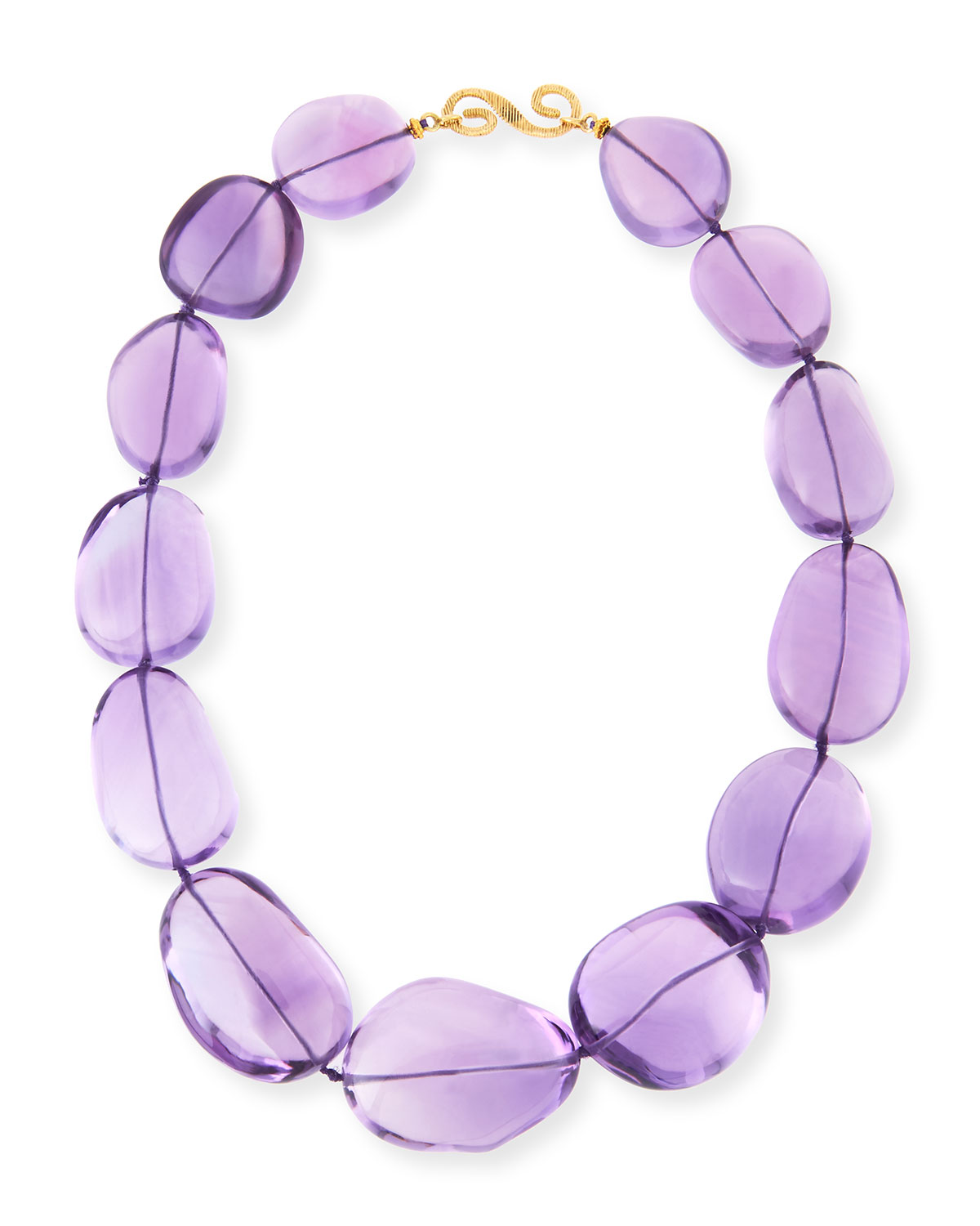 POLISHED AMETHYST NUGGET NECKLACE
