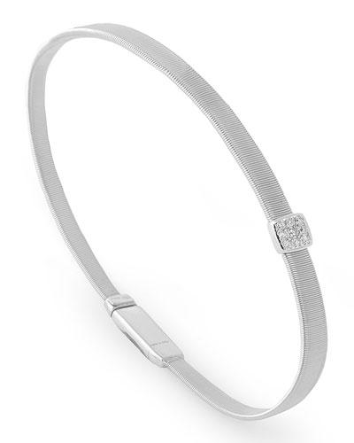Masai 18K White Gold Bracelet with Diamond Station