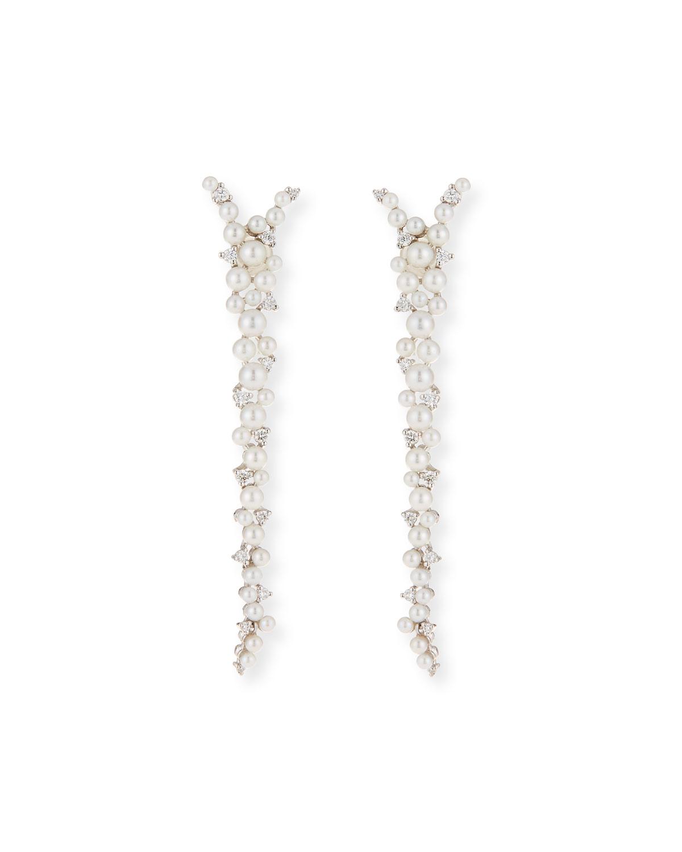 Paul Morelli 18k Pearl & Diamond Orbit Double Drop Earrings 0V5BeEn