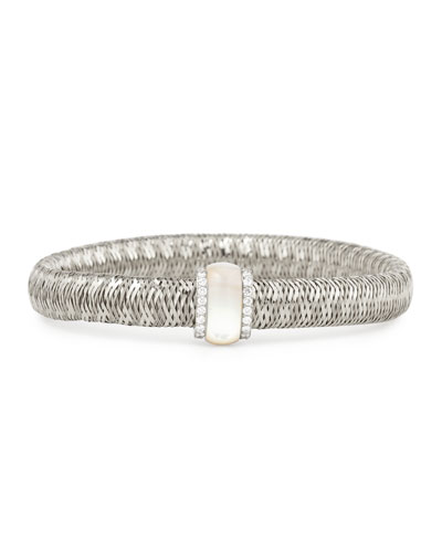 Primavera 18K White Gold Mother-of-Pearl & Diamond Station Bracelet
