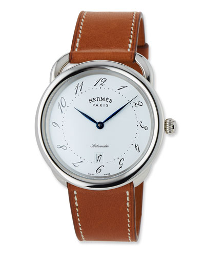 Acreau TGM Watch with Barenia Leather Strap