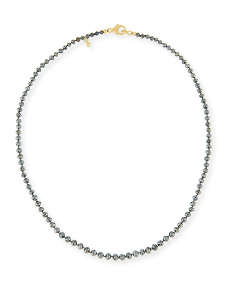 Splendid Company Faceted Round Black Diamond Necklace, 18""