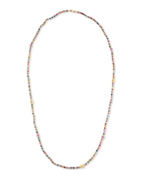 """Splendid Company Single-Strand Multicolor Sapphire Necklace, 41"""""""