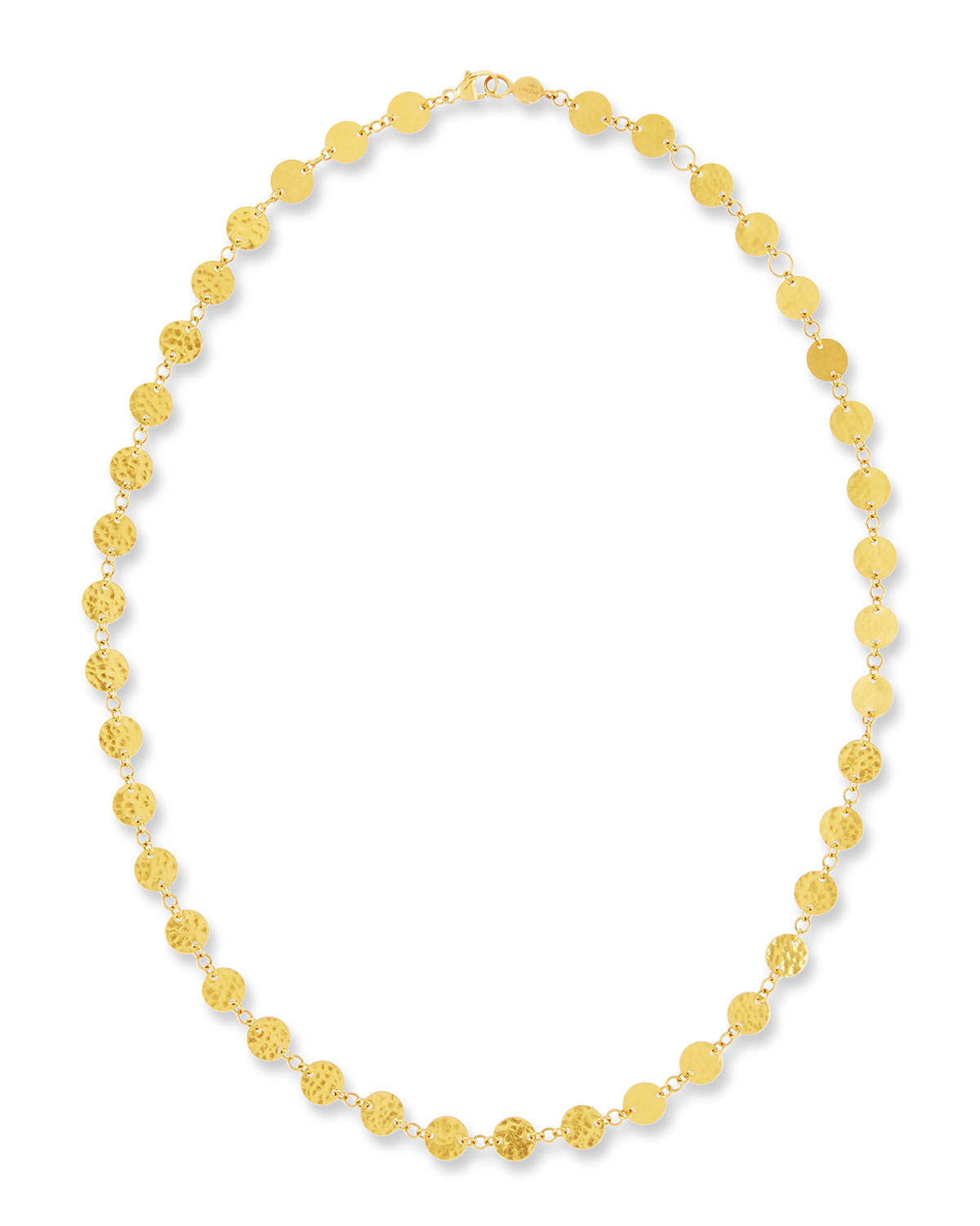 Single Short Lush Necklace in 24K Gold
