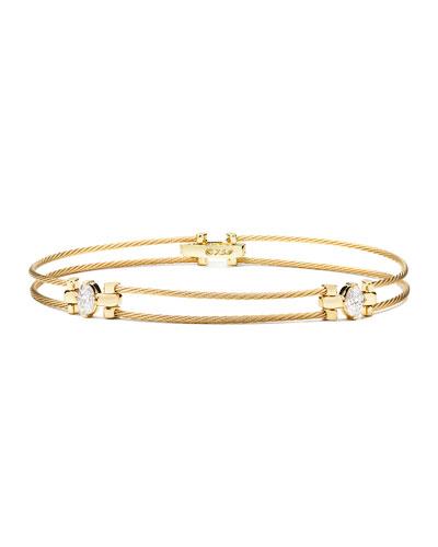 Paul Morelli Seven-Strand Cable Wire Bracelet with Diamonds MI5KBl79jQ