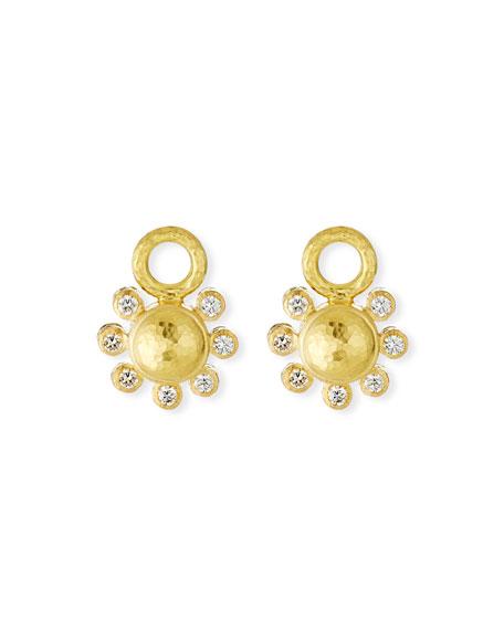 Elizabeth Locke 19k Diamond Domed Earring Charms