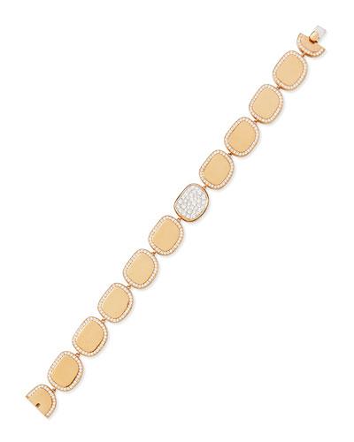18k Rose Gold Diamond African Jade Collection Bracelet