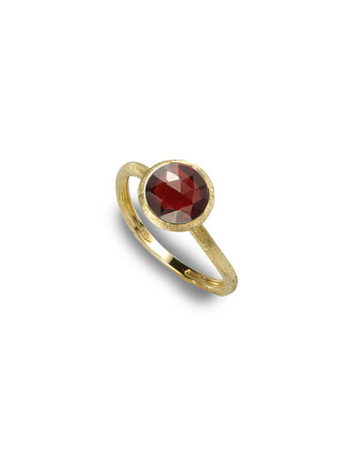 Jaipur Garnet Stackable Ring, Size 6