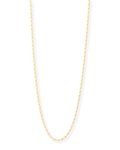 18K Yellow Gold Eight Chain, 35