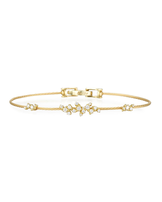 PAUL MORELLI Diamond Confetti Single Wire Bracelet, Yellow Gold
