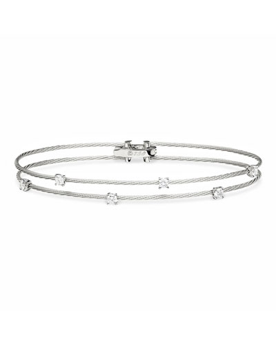 18k White Gold Six-Diamond Bracelet, 0.36 TCW
