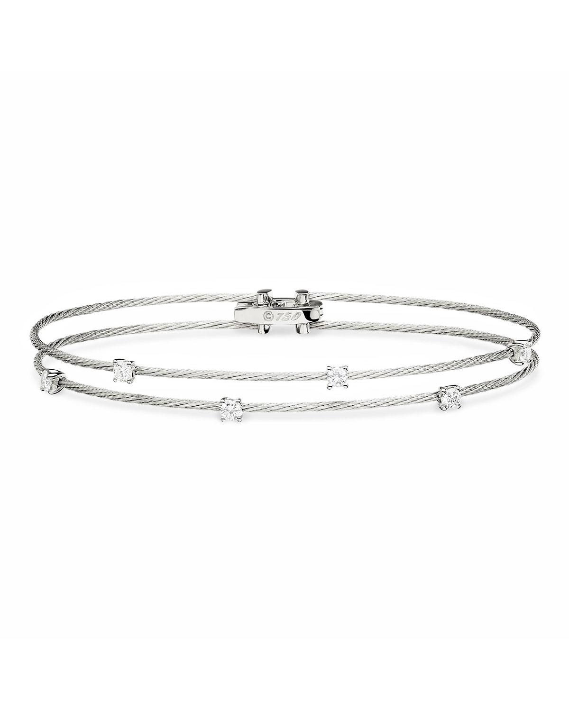 PAUL MORELLI 18K White Gold Six-Diamond Bracelet, 0.36 Tcw