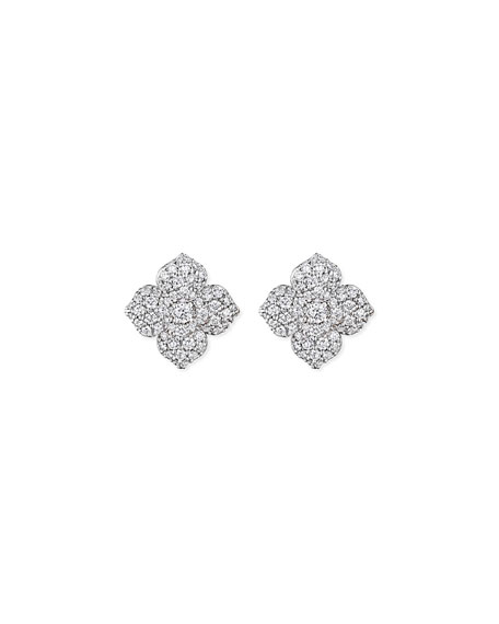 Penny Preville Large Pave Diamond Flower Earrings