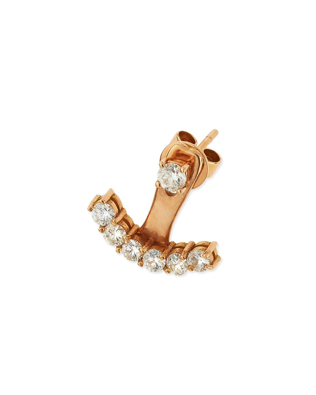 18k Rose Gold Diamond Ear Jacket