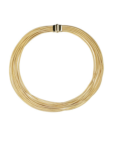 Cairo 18k Gold Nine-Strand Necklace