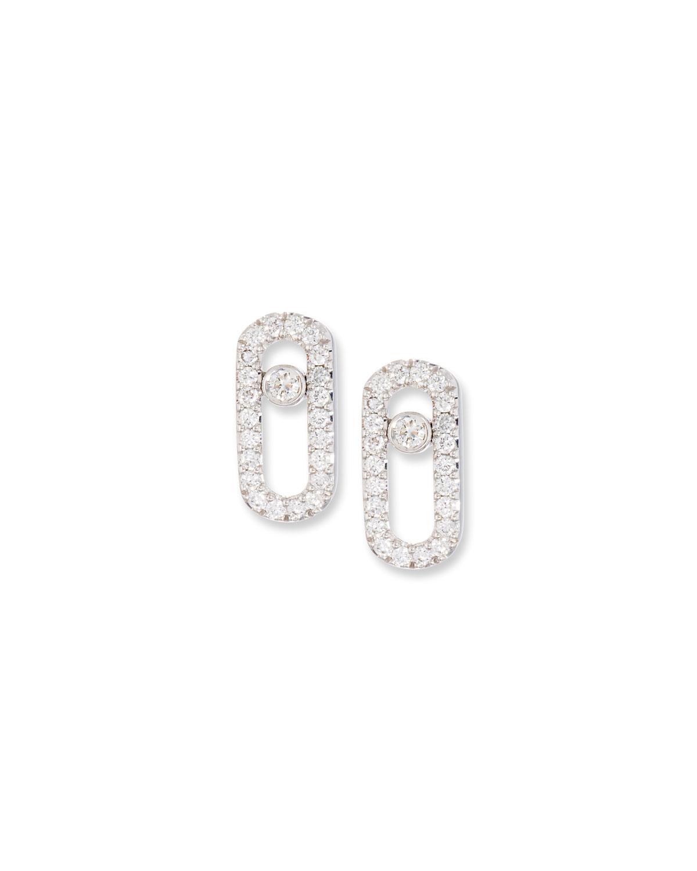 Move Uno Diamond Stud Earrings in 18K White Gold