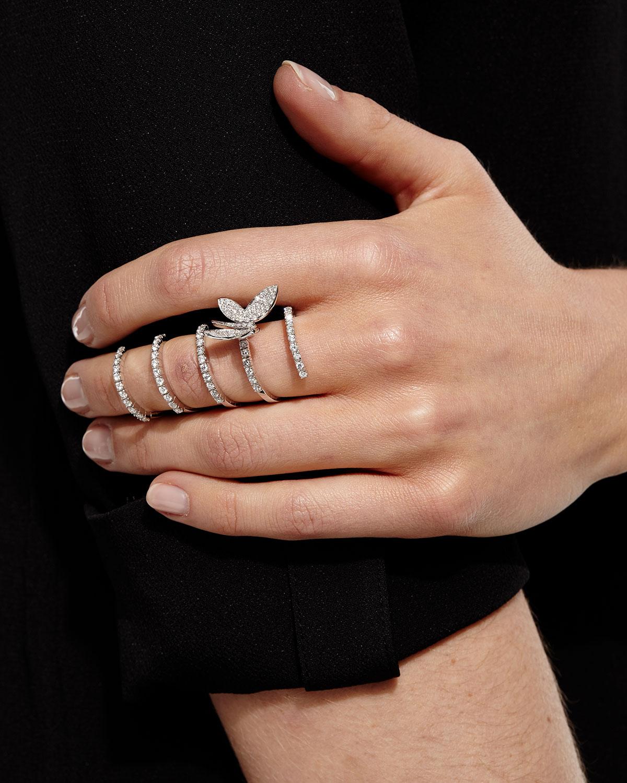 STAURINO FRATELLI MAGIC SNAKE DIAMOND BUTTERFLY RING