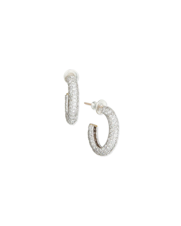 GALAHAD DIAMOND OVAL HOOP EARRINGS