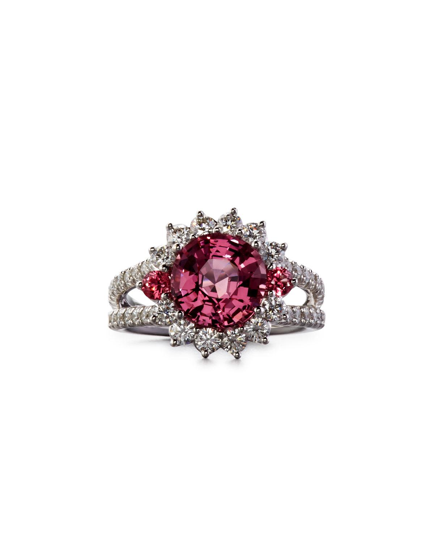 ROBERT ERICH Burma Pink Spinel Ring With Diamonds