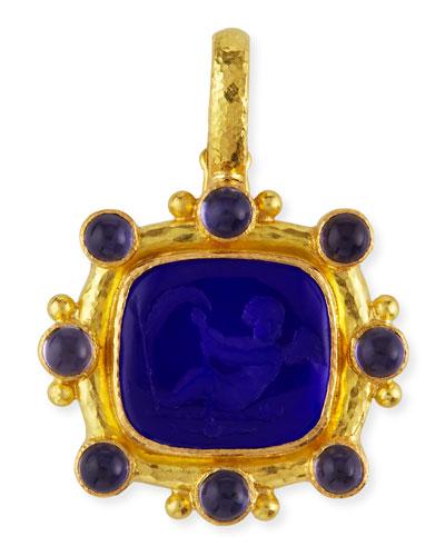Cherub with Sail Intaglio 19k Gold Pendant