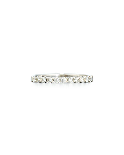 Diamond Eternity Band Ring in 18K White Gold, 0.33 tdcw