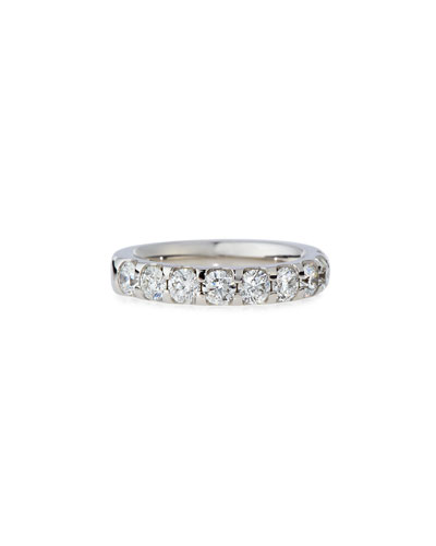 Diamond Band Ring in 18K White Gold, 1.5 tdcw