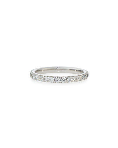MEMOIRE DIAMOND ETERNITY BAND IN 18K WHITE GOLD, 1.0 TDCW