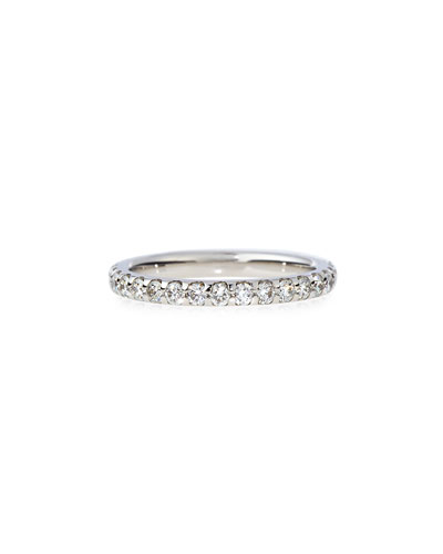 Diamond Band Ring in 18K White Gold, 0.75 tdcw