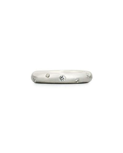 Stardust Diamond Ring in 18K White Gold, 0.3 tdcw