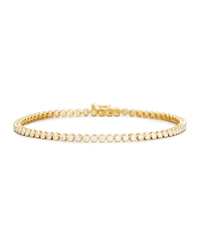 Diamond Bezel Line Bracelet in 18K Yellow Gold