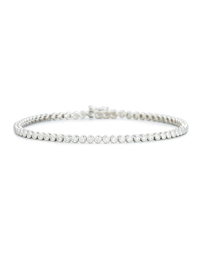 Diamond Bezel Line Bracelet in 18K White Gold