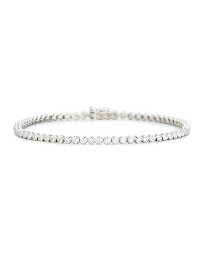 Memoire 18k Flexible Open Diamond Bangle, White Gold