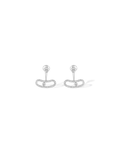 Move Uno Diamond Jacket Earrings in 18K White Gold