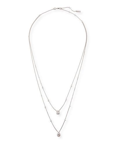 My Twin Two-Strand Diamond Necklace