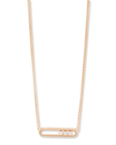 Baby Move Diamond Necklace in 18K Rose Gold