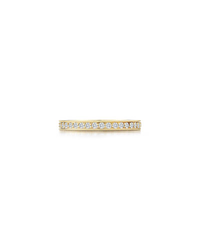 Channel-Set Diamond Eternity Band Ring in 18K Yellow Gold, Size 7