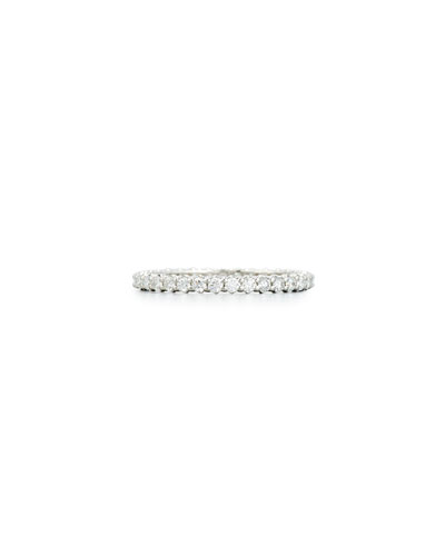 Diamond Eternity Band Ring in 18K White Gold, 0.66 tdcw, Size 7 ...