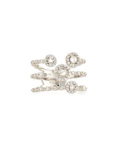 Three-Prong Round Diamond Ring in 18K White Gold