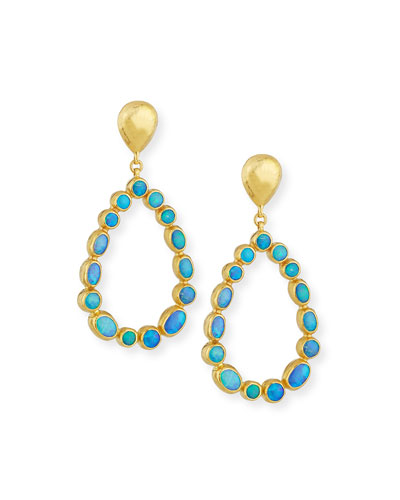 Amulet Hue Opal Cabochon Drop Earrings