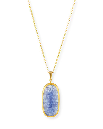 Elements Tanzanite Oval Pendant Necklace