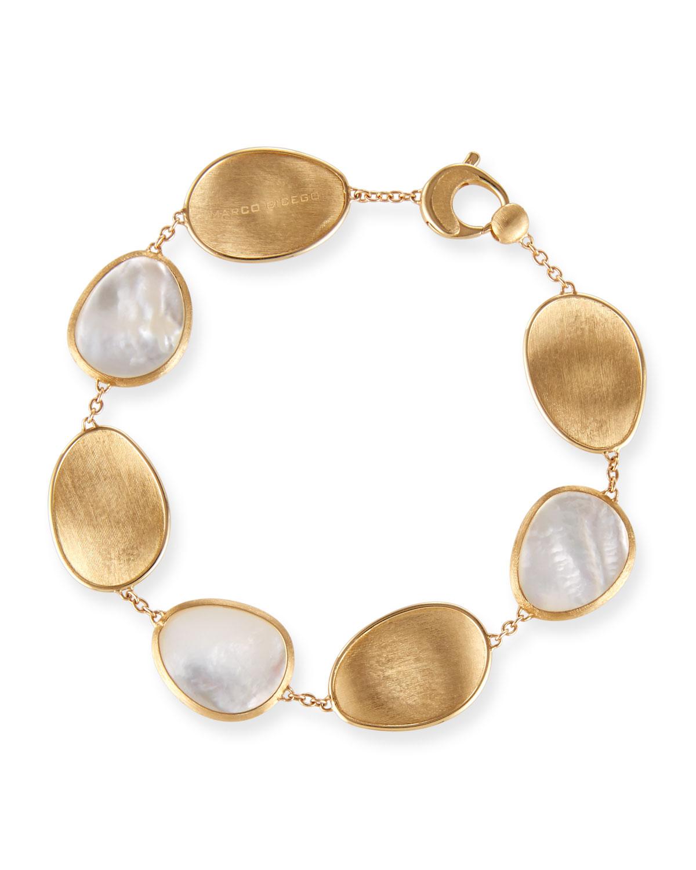 Lunaria Mother-of-Pearl Station Bracelet