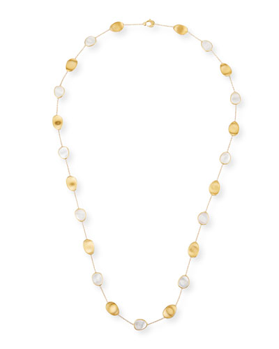 Lunaria Long Mother-of-Pearl Station Necklace, 36