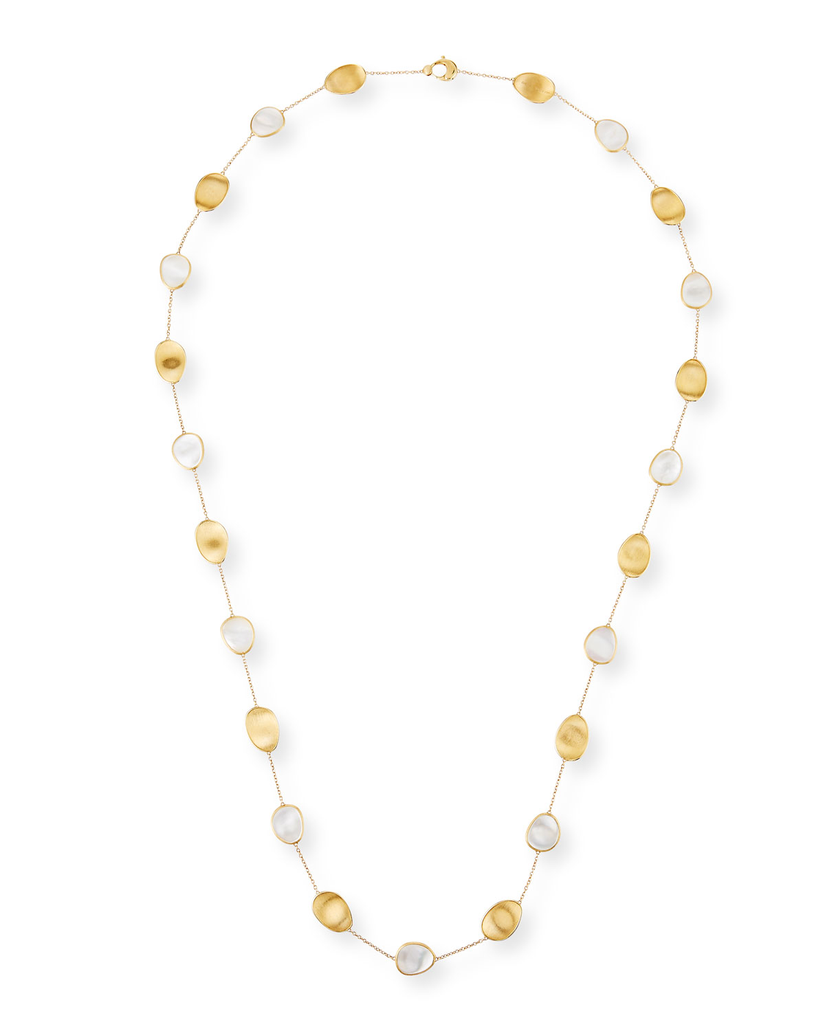 Lunaria Long Mother-of-Pearl Station Necklace