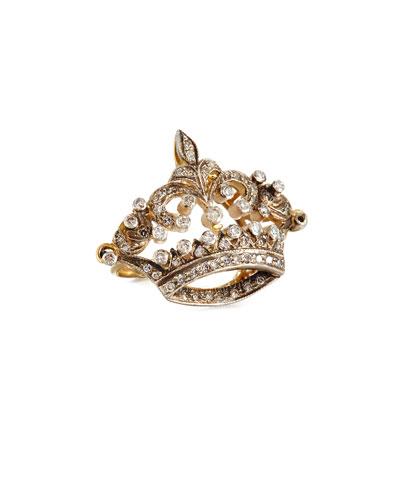 TURNER & TATLER DIAMOND CORONET RING IN 14K GOLD