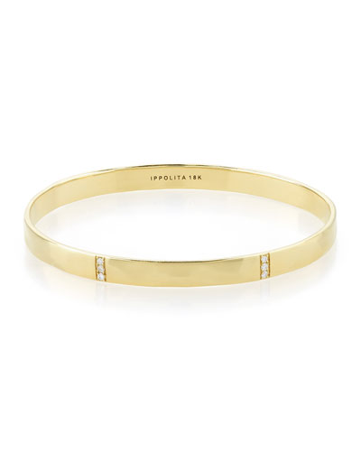 18k Gold Glamazon 3-Section Diamond Bangle