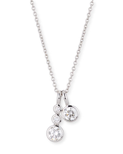 Forevermark 18K White Gold Four-Diamond Pendant Necklace