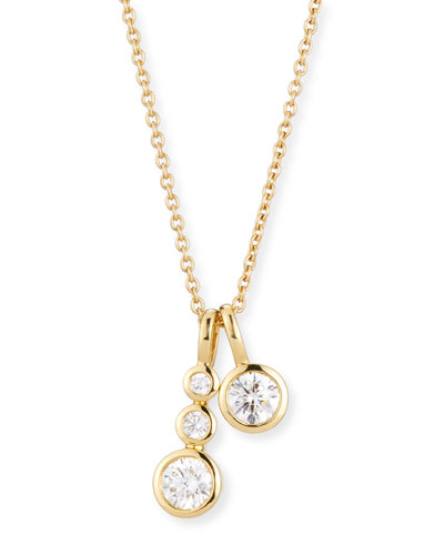 Forevermark 18K Yellow Gold Four-Diamond Pendant Necklace